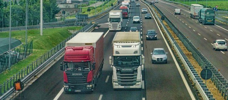 ilustração caminhões